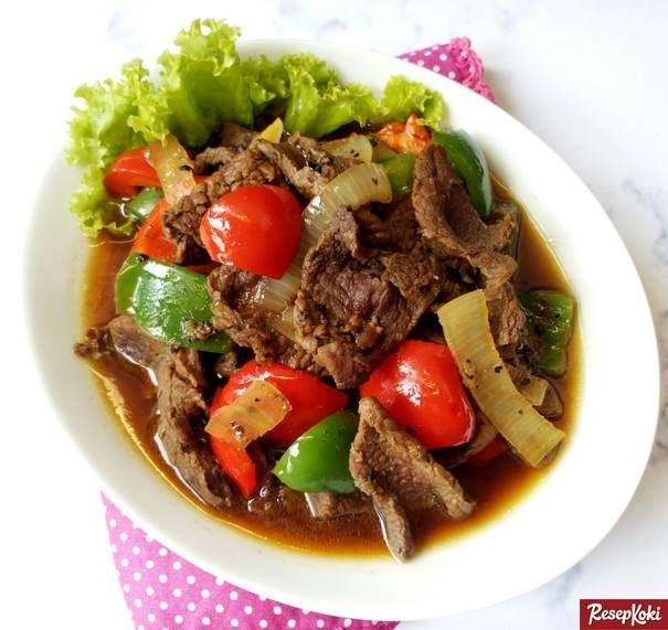 Resep Daging Sapi Lada Hitam