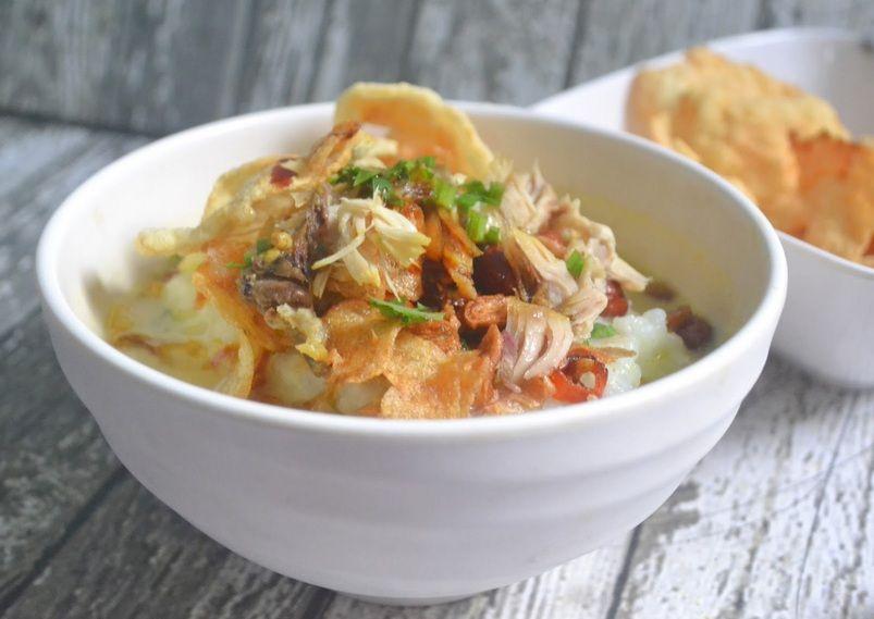 resep bubur ayam tanpa kuah